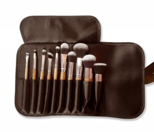 Bamboo makeup brush kit