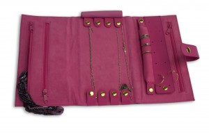 Jewelry Travel Organizer from DK products fits everyone in one self contained unit. Smart!