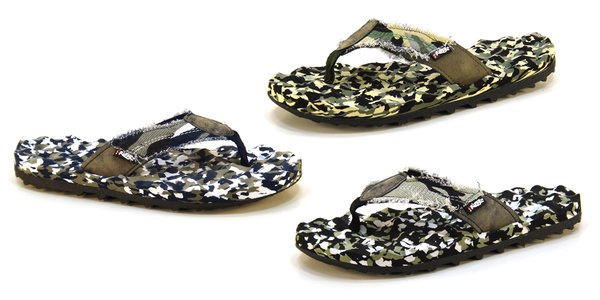 Frisky Nineteen Canvas Flip Flop for men in camo