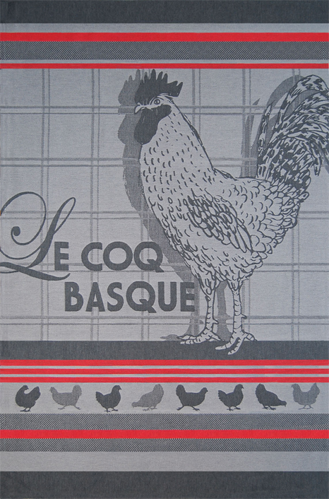 French Fixe Jean Vier Rooster Tea Towel
