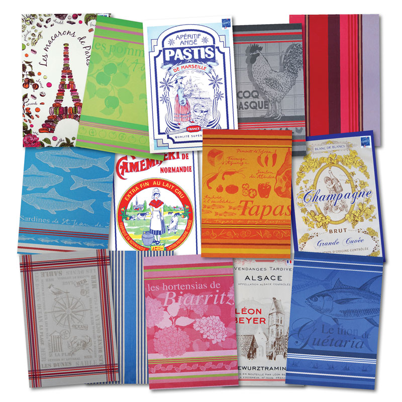 French Fixe classic French Tea Towels for my French Country Kitchen - oo la la!