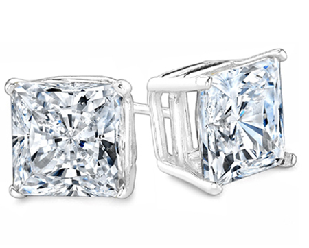 Princess Cut Diamond Studs from Beverly Diamonds