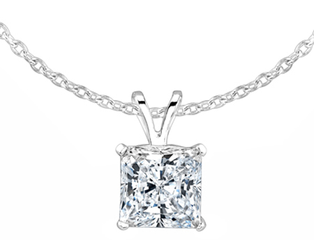 Princess Cut Pendant from Beverly Diamonds