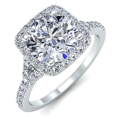 Round Halo Engagement Ring from Beverly Diamonds