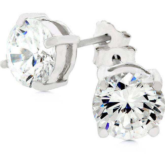 NYC Jewelers Sterling Silver and CZ Stud Earrings are only $8.99 on Amazon