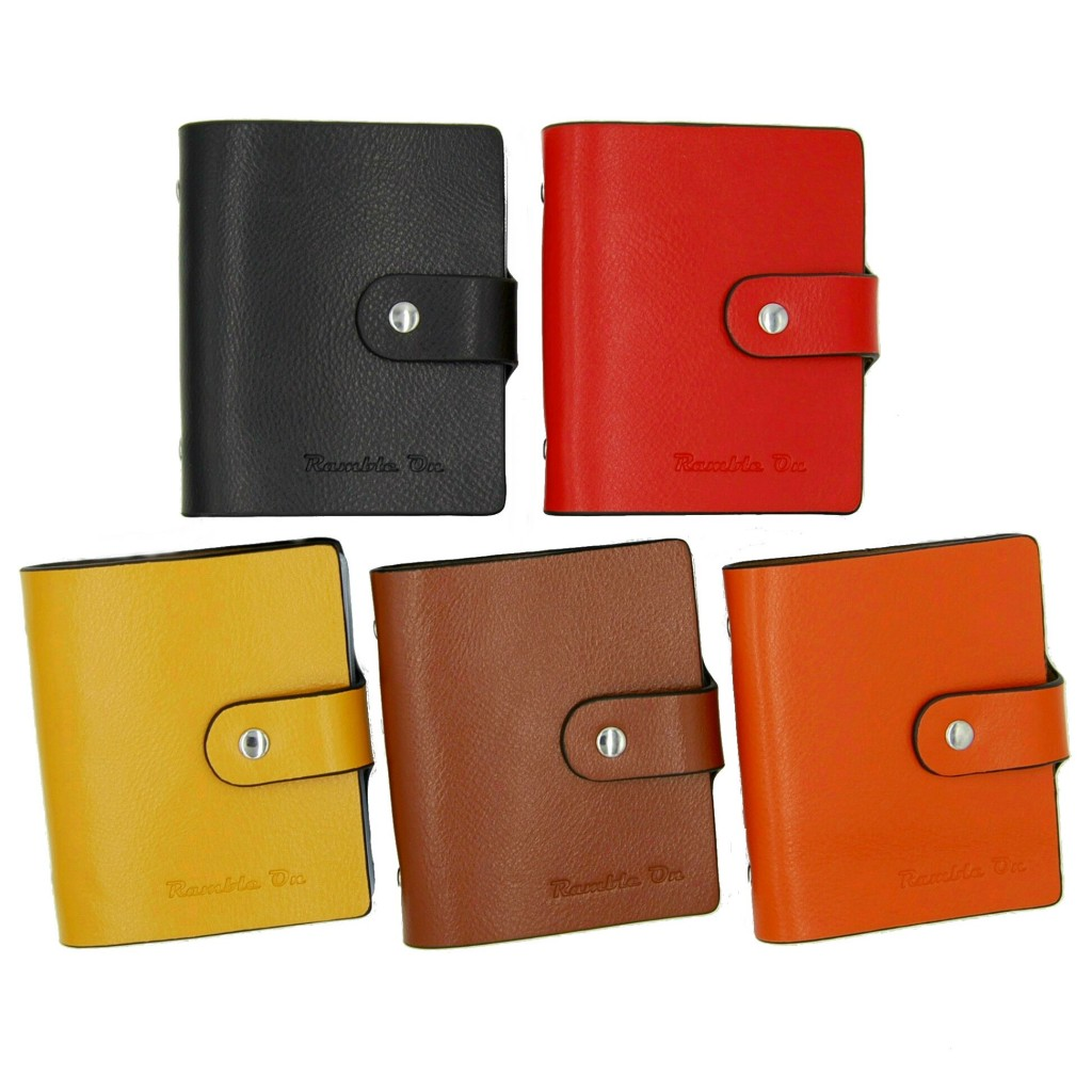 Ramble On, credit card business card holder, multiple colors