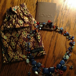 Like all NOVICA products, this lovely necklace ia a fair trade product and arrives in a jewelry pouch with an official NOVICA Story Card certifying their materials, quality and authenticity.