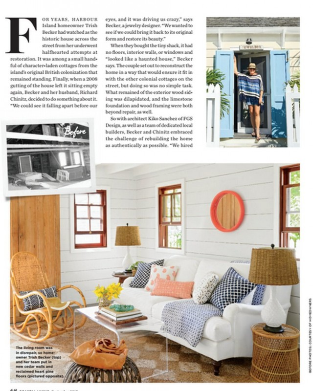 Acrylic table by Acrylic Fabricators of Southeastern Florida featured in Coastal Living, September 2015