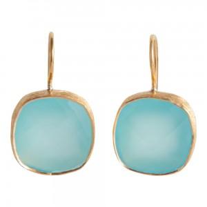 Aqua Chalcedony Earrings