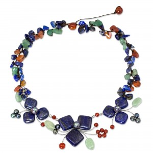Lapis Lazuli collar necklace by NOVICA is just $35.99, Spring 2016 Jewelry Trends