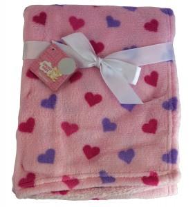 Snugly baby hearts newborn blanket