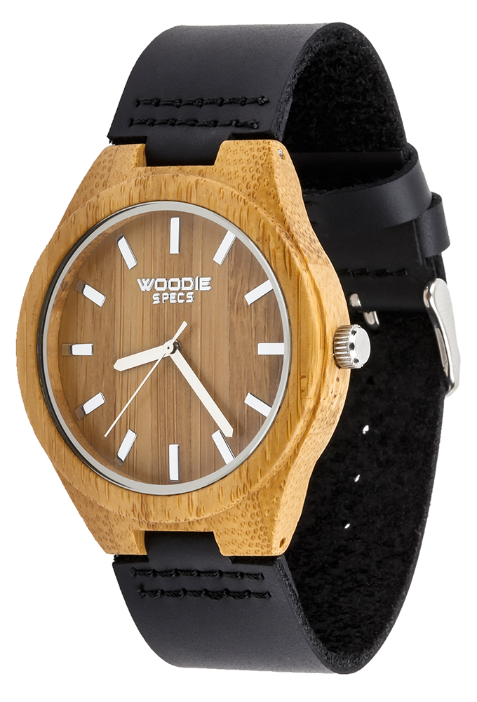 Wooden watch with leather band from Woodie Specs, only $69!
