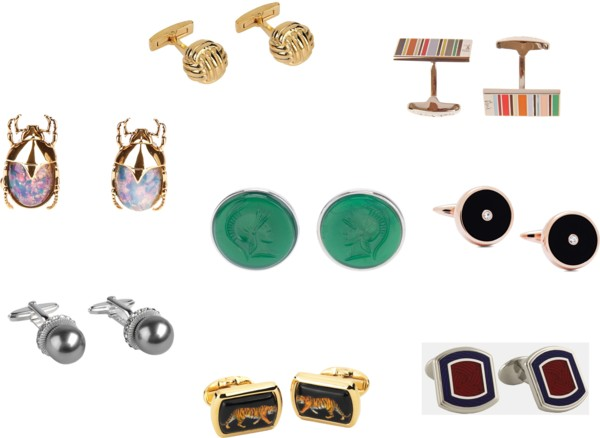 Off the cuff! Borrow his cufflinks for your French cuff blouse