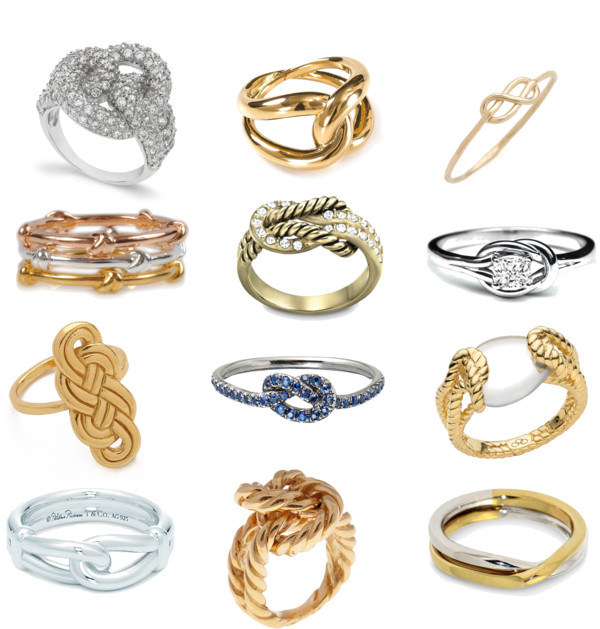 A dozen ways to say I Love You... love knot rings