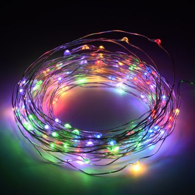 Thin copper wire lights are LED and perfect for outdoor or indoor use