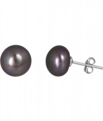 Black pearl earrings from Pearl and Clasp, $34