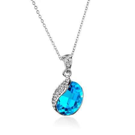 Afterglow seashell necklace with Swarovski Crystal Elements