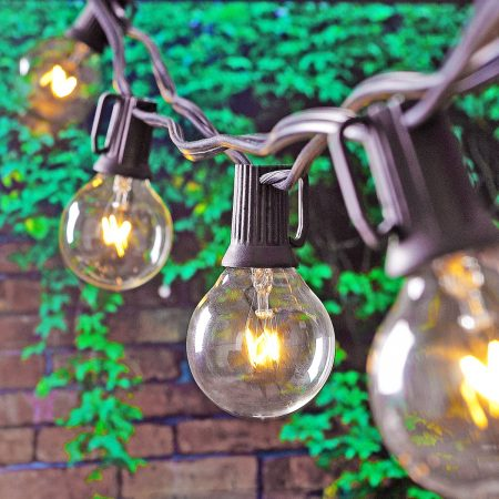 The perfect patio lights! French cafe inspired globe lights are vintage chic