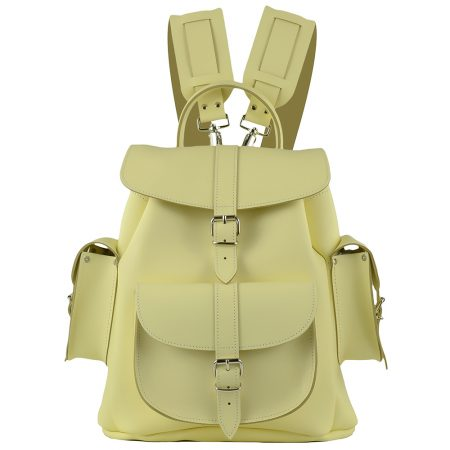 Grafea leather backpacks... so campus chic, full grain leather, $197