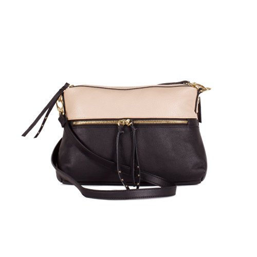 Liv Bloc Party crossbody bag in bone and black $98 on Amazon