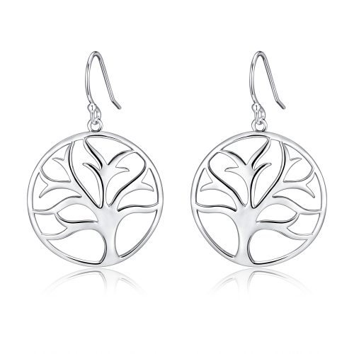 Tree of Life filigree earrings in sterling silver