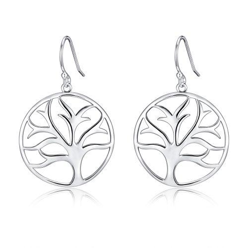 Tree of Life filigree earrings in sterling silver