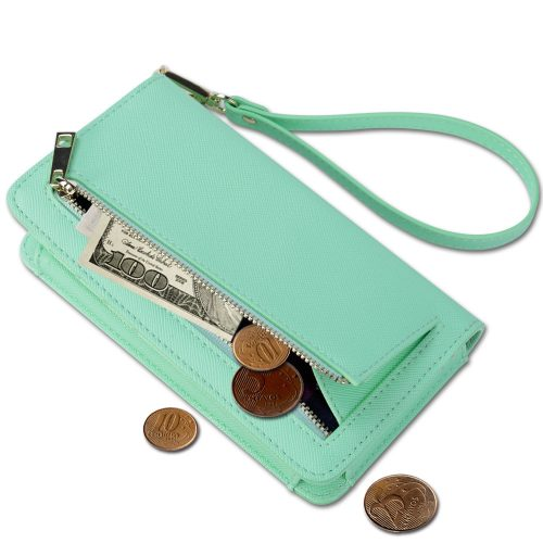 Wristlet holds money, cards, phone and more
