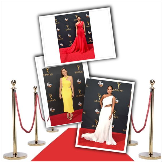 One-shouldered looks top the Emmy Awards Best Dressed List