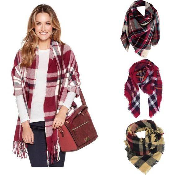 Fall staple: Cozy blanket scarves