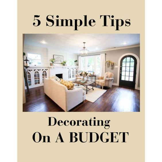 Decorating on a budget: 5 tips