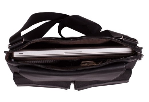 Tutilo men's messenger bag has a spacious interior AND great style