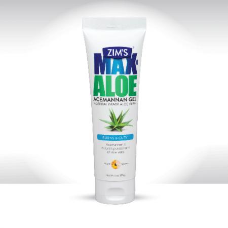 Zim's Aloe Vera Gel soothes sunburn -- summer or winter!