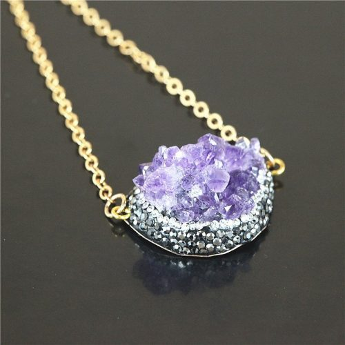 Drusy necklace from The Druzy Shop
