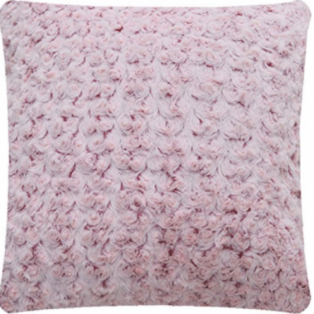 Mellanni Faux Fur Pillow in Sweet Oink