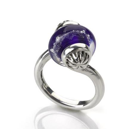 The Audrey interchangeable bead ring by Whimsy Worldwide.