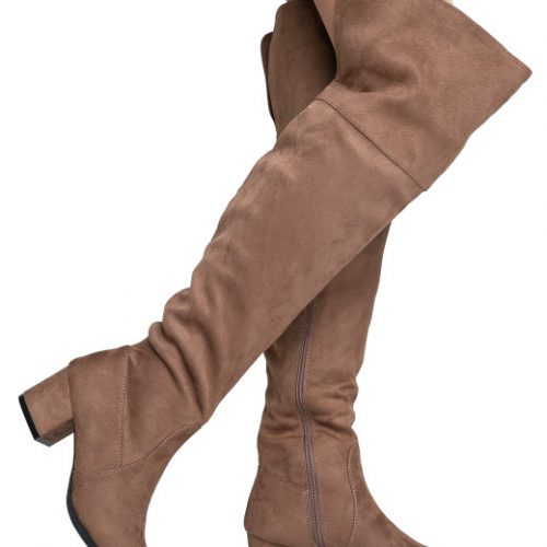 Vegan suede over the knee boots by J. Adams are UNDER $50!