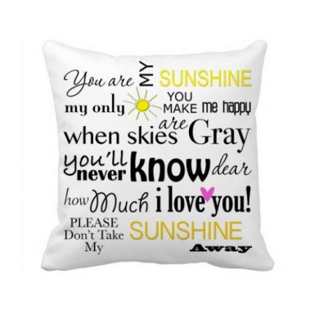 OneMtoss You are My Sunshine pillow cover, just $10 on Amazon
