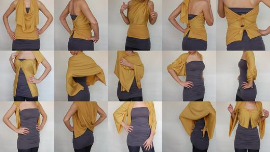 How many ways can YOU wear it! Trudy Miller Layers are so adaptable!