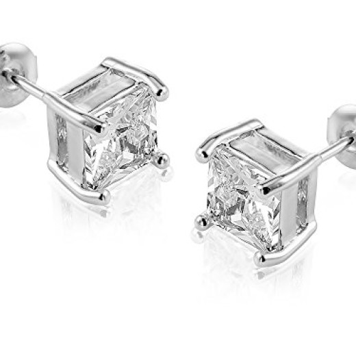 Princess cut studs are just $19.99, but they look like a million bucks!
