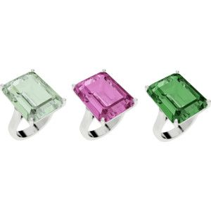 Eye candy! Emerald cut cocktail rings are sweet for spring