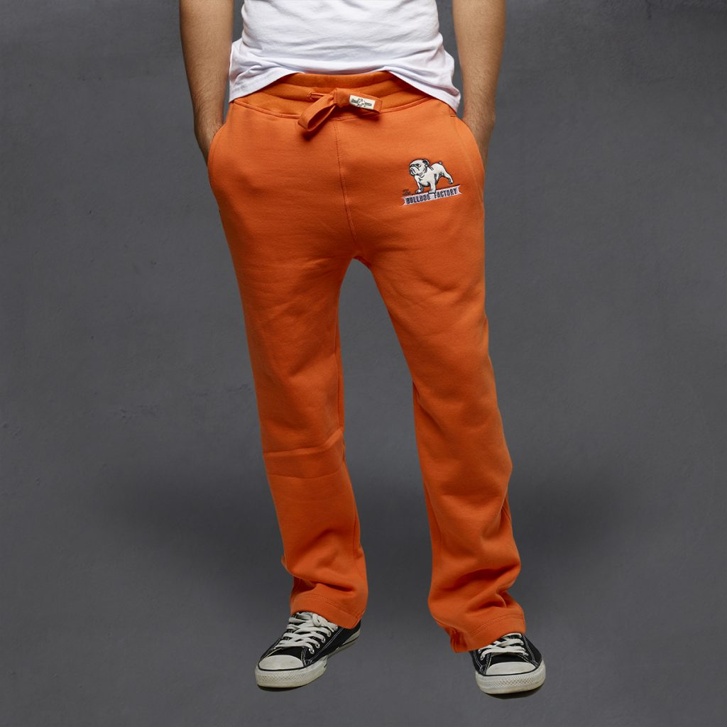 Guy's Heritage Sweatpants from The Bulldog Factory in Celosia Orange, $60