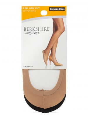 Berkshire Hosiery's comfy liners are perfect when only bare legs will do. 2-pack is only $8