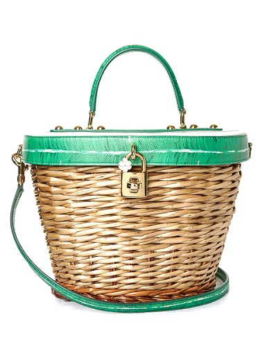 wicker wover rattan straw handbag spring