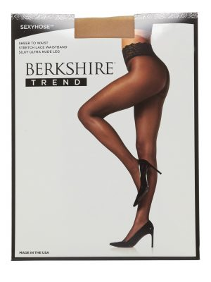 Sheer to waist with lace top. These stockings are sheer and comfy for spring and summer looks. $11