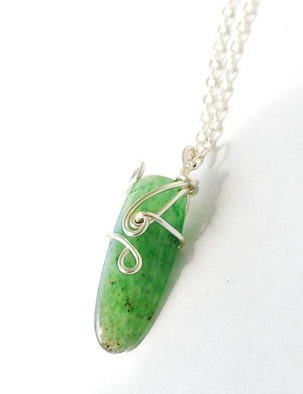 Wire Wrapped Gemstone Necklace Giveaway! Designs by Nature Gems Laura Sultan Aventurine Necklace