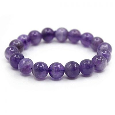 Amethyst Power Bead Bracelet by Kisspat is under $8!