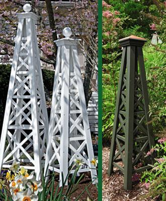 Cottage Garden Style: Add an obelisk