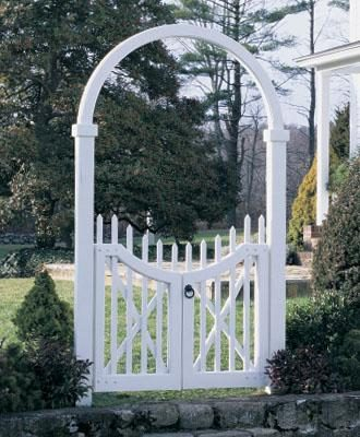 Cottage Garden Style, Double gate arch from Walpole Woodworkers