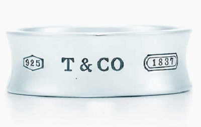 Tiffany & Co. silver ring, silver jewelry under $250