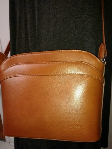 Crossbody Bag by MMilanesi offers European styling, Italian leather, and superior workmanship